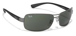 Ray Ban Gafas de Sol RB 3379 004 Gunmetal Negro W/ G-15 Verde Lente 64mm - $314.60