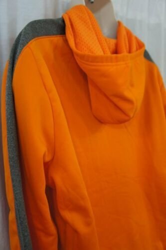 Champion Mens Sweatshirt Sz M Persimmon Orange Gray Hooded Pullover Double Dry