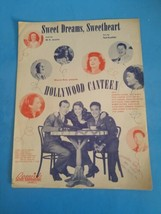 Sweet Dreams Sweetheart Sheet Music Vintage 1944 Hollywood Canteen M Jer... - $18.69