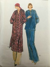 Vogue Sewing Pattern 9366 Misses Tunic, Top & Pants Vintage 1970s Style ... - $16.20