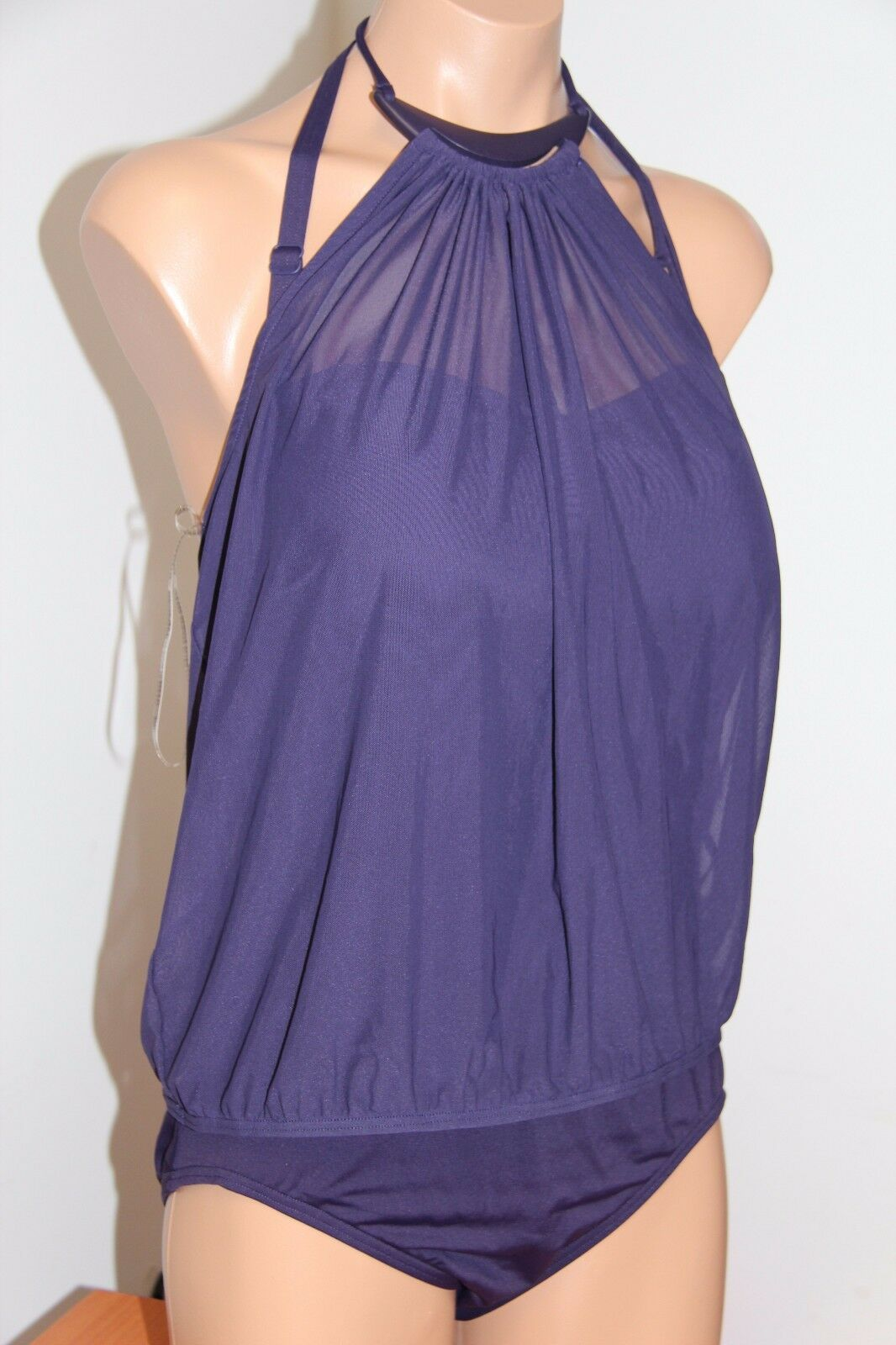 NWT Coco Reef Swimsuit Bikini 1 one  piece Sz 10 34D Deep Amethyst