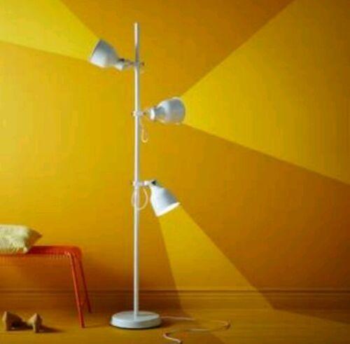 IKEA Hektar Floor Lamp With 3-Spotlights Beige image 2