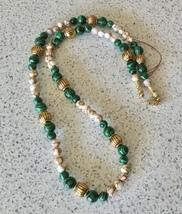 Green Malachite Beaded Necklace - $8.50
