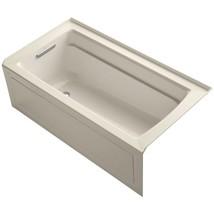 KOHLER Non-Whirlpool Bathtub 5 ft. Built-in Flange Left Drain Acrylic Almond - $904.98