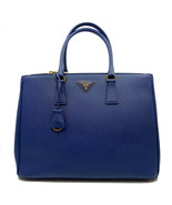 Prada Blue Lux Saffiano Leather Double-Zip Tote Ladies Bag 1BA786 F0016 - $1,709.10