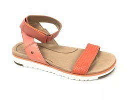 Ugg Australia Laddie Women's Ankle Strap Fire Opal Orange Sandal 1015669 Shoes - $59.99
