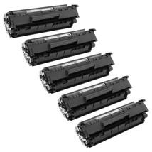 5 Pack HP 12A Black (Q2612A) Compatible Toner Cartridges - $111.92
