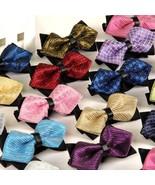 Men Tuxedo Bowtie Classic Adjustable Neck Tie Wedding Formal Bow Fashion... - $5.99