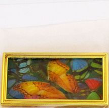 Dollhouse 3-D Picture Butterflies in Gold Metal Frame G7121 Miniatures World - $4.70