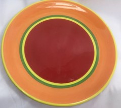 "Dansk Caribe Aruba Caribbean Orange & Red Dinner Plate 10.5"" - $9.89"