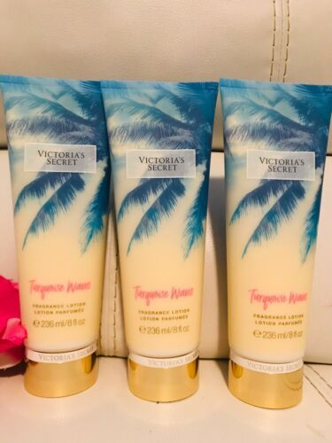 Primary image for 3 Victoria`s Secret VS Turquoise Waves BODY LOTION 8oz Brand New Sealed