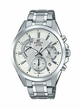 Casio Men's Edifice Silver Quartz Watch with Stainless-Steel Strap - £91.88 GBP