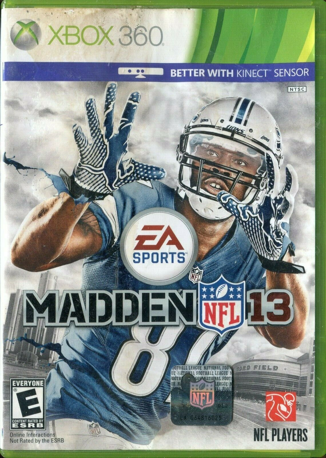 Primary image for Madden NFL 13 (Microsoft Xbox 360, 2012) No Manual