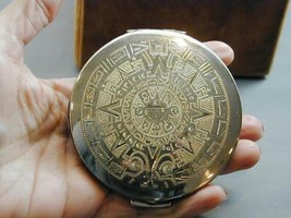 Vintage Hand Engraved Sterling Compact Mexico Never Used Large - $89.99