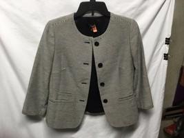 Talbots Petite Womens Sz 6P Navy Blue Striped Jacket Blazer Career  4 Bu... - $24.74
