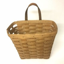Vintage 1991 Longaberger Basket Leather Handle DAMAGED - $14.84