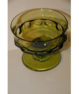 KINGS CROWN THUMBPRINT SHERBERT DESSERT CUP GOBLETS TIFFIN INDIANA OLIVE... - $9.99