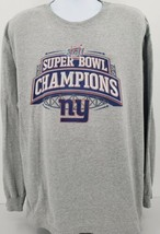 New York Giants Superbowl 42 Champions Gray Men's 2XL Sweatshirt - $23.33
