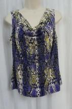 Calvin Klein Top Petite Sz PM Byzantine Multi Cowl Jersey Sleeveless Blouse - $24.18