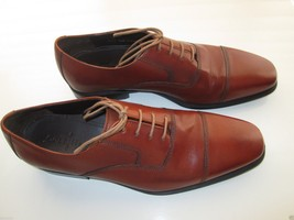 Cole Haan Genuine Premium Leather Cap toes Oxfords Men' Shoes Orangered 9.5M-10M - $90.24
