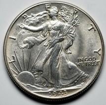1943 Walking Liberty Half Dollar 90% Silver Coin Lot# A 222