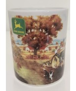 John Deere Tractor & Airplane Farm Dog Ceramic Coffee Mug Cup Gibson Col... - $19.79