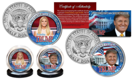 DONALD TRUMP 45th President & IVANKA First Daughter JFK Kennedy U.S. 2-C... - $14.80