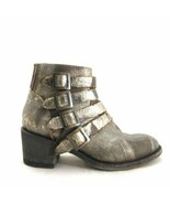 6 - Five Worlds by Cordani Womens Sancho Brown Gold Western Ankle Boots ... - $125.00