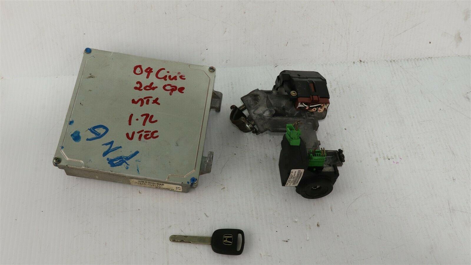 04-05 Honda Civic 1.7 5sp MT ECU PCM Engine Computer & Immobilizer 37820-PLR-A12