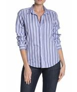 Frank & Eileen Barry Long Sleeve Button Down Shirt Top Striped Size XS - $83.22