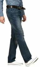 Levi's 501 Men's Original Fit Straight Leg Jeans Button Fly Blue 501-2166