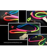 Neon color dog leash collage thumbtall