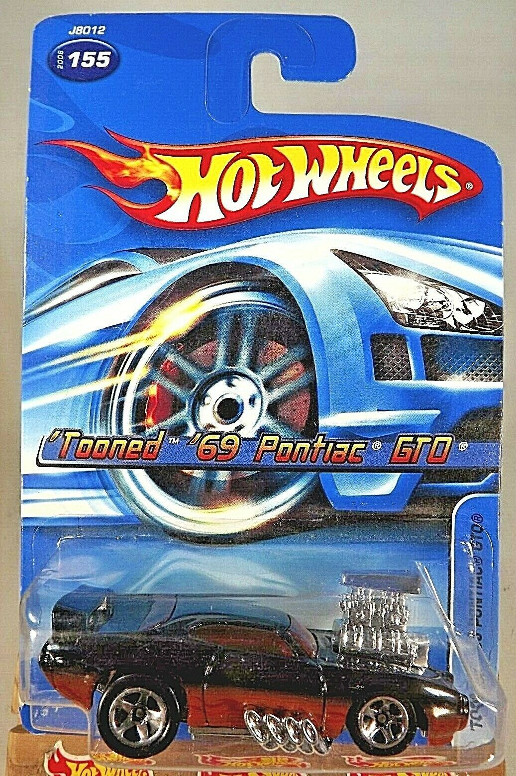 Primary image for 2006 Hot Wheels Collector #155 TOONED '69 PONTIAC GTO Black w/Chrome 5 Spokes