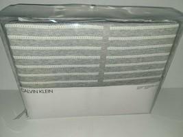 Calvin Klein Modern Cotton Steve Ribbed FULL / QUEEN Duvet Cover Gray - $51.48