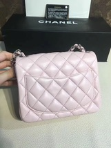 Authentic Chanel Lavender Quilted Lambskin Square Mini Classic Flap Bag SHW NEW image 3