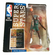 NBA Superstars Vin Baker Action Figure Milwaukee Bucks 1998 Mattel Upper... - $13.09