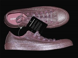 f25608601b9e Rare Converse Rosy Pink Completely Covered Glitter Ox Low Shoes WMS NWT HTF  -  69.99