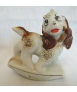 Vintage Japan Ceramic  Porcelain Cocker Spaniel Figurine Spaghetti Cute - $20.00