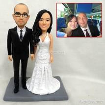 ooak polymer clay doll motorbike Wedding,anniversary cake topper decorat... - $148.00
