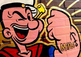 "ALEC MONOPOLY ""POPEYE"" HD PRINT ON CANVAS LARGE WALL PICTURE 36x28"" - $29.69"