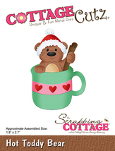 Hot Toddy Bear Cottage Cutz Die. CLEARANCE