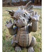 """Ebros Whimsical Garden Dragon Making Funny Faces Statue 10.25"""" H Cute Ba... - $39.59"""