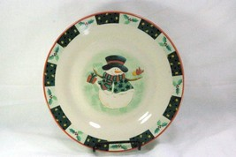 Tienshan Holiday Snowman Dinner plate - $4.84
