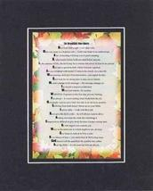 Touching and Heartfelt Poem for Inspirations - Beautiful One-Liners Poem on 11 x - $15.79