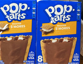 Kellogg's Pop Tarts Frosted Smores Toaster Pastries 2 Box Pack - $18.29