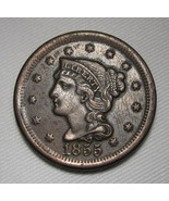 1855 Large CH XF Coin AE109 - $78.30