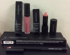 BareMinerals Statement Lipstick Lip Bundle Fresh 3 Pieces New *Read - $14.20