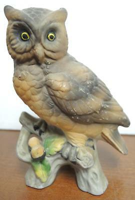 Four Vintage Brown  and Yellow Owls Figurines