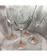 Cristal D'Arques Durand Rose Set Of 4 Wine Glasses - $29.02