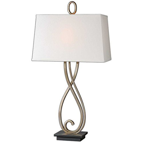 Uttermost 26341 Ferndale Scroll Metal Lamp, Bronze